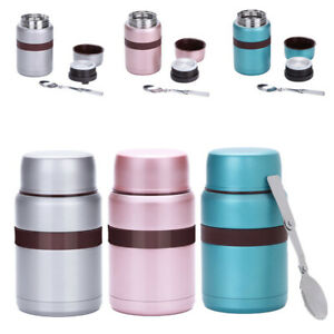 Thermos Food Flask 500ml Stainless Steel Vacuum Insulated Soup Jar with Spoon