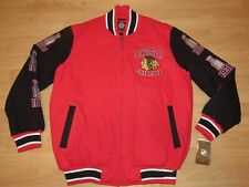 Chicago Blackhawks 6-X Stanley Cup Champions Varsity Jacket size Men's 2XL
