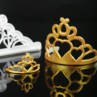 2Pcs Crown Tiara Cookies Cutter Fondant Cake Decoration Sugarcraft Mould Tools