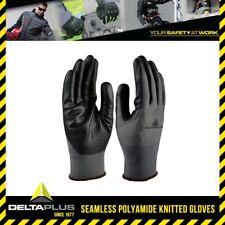 Delta Plus Polyamide Knitted Safety Gloves Nitrile Foam Palm Anti Oils #VE722