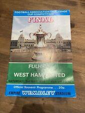 1975 FA Cup Final Programme - Fulham v West Ham United