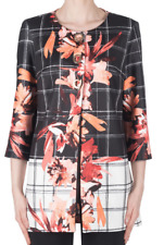 Joseph Ribkoff Black White Floral 3/4 Sleeve Scuba Knit Fabric Jacket 183765 NEW