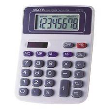 Aurora White/Blue 8-Digit Semi-Desk Calculator DT210 [AO21001]