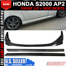 For 04-09 Honda AP2 S2000 S2K Df Style Side Skirts + Cr Style Front Bumper Lip