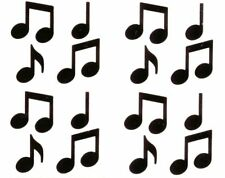 ~ Black Music Notes Musician Band Orchestra Tunes Symbol Mrs Grossman Stickers ~