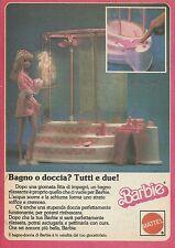 X1070 BARBIE - Bagno o doccia? Tutti e due - Mattel - Pubblicità 1986 - Advert.