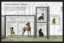 Canada Stamps — Souvenir Sheet — Adopt a Pet: Bird, Cats & Dogs #2636 — MNH