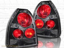1996-2000 HONDA CIVIC TAIL LIGHTS BLACK LAMP G2 3D 99
