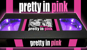 Pretty in Pink - Retro VHS Lamp +Remote Control - Comedy Movie