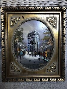 RARE PAIR OF ANTIQUE OIL PAINTINGS BY ALOIS ZABEHLICKY, STREET SCENES OF PARIS
