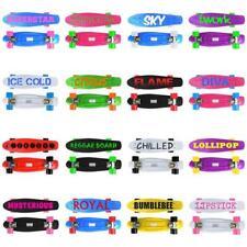 "SKATEBOARD RETRO COMPLETE DECK CRUISER SKATER SKATING PLASTIC BOARD  22"" ABEC7"