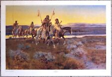 "Piegans by Charles M. Russell - 34"" X 23.5"" Western Art Print"