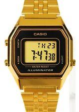 Casio LA680WGA-1D Ladies Mid-Size Gold Tone Digital Retro Vintage Watch NEW