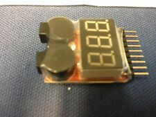 Lipo Battery Voltage Tester Volt Meter Monitor 1-8S w Low Voltage Alarm US Stock