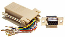 Female DB9 DB 9 Pin to RJ11 / RJ12 6 Conductor Adapter