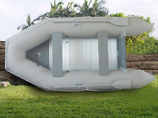 New 1.2mm PVC 10.5' Inflatable Boat Tender Raft Dinghy With Floor Gray