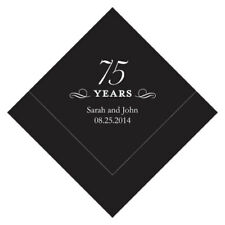 100 Personalized 75th Birthday Luncheon Napkins