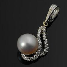 18KWG South Sea Pearl and Diamond Pendant