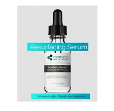 Facial Skin Care Exfoliate Resurface Serum Lactic, Glycolic Acid, Enzymes (1 oz)