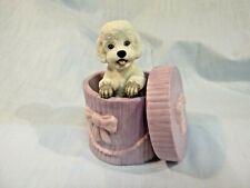 Princeton Gallery 1992 Dogs Peek-A-Boo! Porcelain Playful Pup 2 piece set