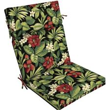 Patio Chair Cushion Tropical Floral 1 Piece Seat Back Pad Durable Outdoor Chaise