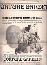 TORTURE GARDEN 6-page ad slicks (1967) Peter Cushing Subotsky Bloch Fright Seeds