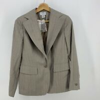 Size 4P Ann Taylor Petite Suit Jacket Blazer Gray Womens New $139 Professional