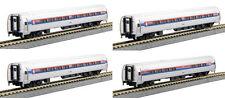KATO 1068011 N Amtrak Amfleet Phase I Passenger 4 Car Set/Bookcase 106-8011- New