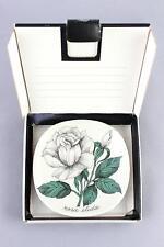 An Arabia white rose dish/wall plaque. Boxed. Esteri Tomula Finnish design
