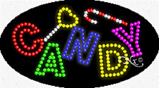 "Brand New ""Candy"" 27x15 Oval Solid/Animated Led Sign w/Custom Options 24092"
