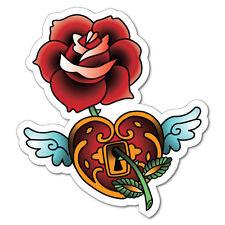 Love Heart Rose Sticker Tattoo Art Sailor  #6950LS