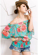Unbranded Chiffon Scoop Neck Floral Tops & Shirts for Women