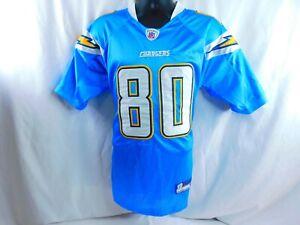 Reebok NFL Chargers Malcom Floyd #80 On Field Equipment Jersey Blue Sz 48-NEW