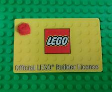 *NEW* Lego Licence Official Builders License Card Kids Adults Wallet x 1 piece