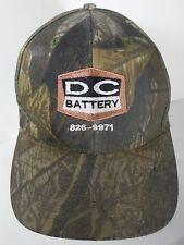 DC BATTERY SEDALIA MISSOURI Advertising CAMO CAMOUFLAGE Adjustable Hat Cap