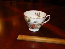 Vintage Queen Anne White Roses,Floral Tea, Coffee, cup, Mug, # 8220, Bone China