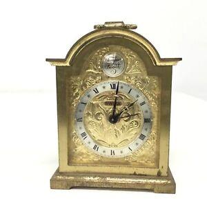 Vintage Tempus Fugile Gold Wind Up Alarm Clock #563