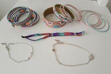 mint bangles bracelet anklet cuff coral 5x Primark silver gold pastel pink blue