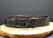 Tumi Authentic Mens Leather Jeans Belt Black Size 36
