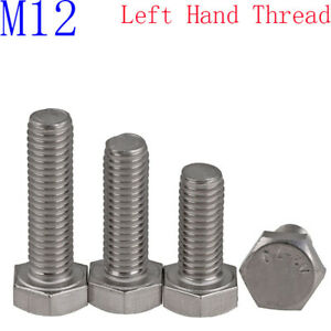 Length : 50mm, Size : M12 Mingyue Thumb Screw Stainless Steel Hex Head Hex Head Screw M12 Stainless Steel Screw screws