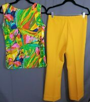 "Vintage Women's 70's outfit~Pants & Matching Shirt~""That 70's Show""~Mustard Pant"