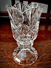 Beautiful Crystal Glass Two Piece Candle Holder - 7� Height x Base Dia. 3 1/2�