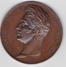 MEDAILLE CHARLES X ,MONUMENT A LA MEMOIRE DE LOUIS XVI, 3 MAI 1826