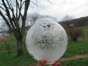 globe boule en verre givré pour lampe à pétrole ou applique