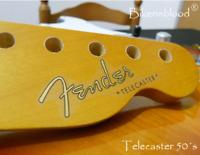 Fender Telecaster Decal 50´s (Metallic Gold Logo)
