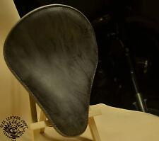 Selle Solo Bobber Siège M Cadre etoiles Custom Hachoir Harley Softail Gris