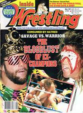 WWF MAGAZINE INSIDE WRESTLING MAY 1991 ULTIMATE WARRIOR RANDY SAVAGE COVER wwe