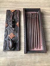 Wooden Chopsticks And Case. Brand New