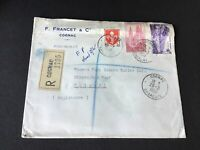 France 1959 F. Francet & Co Cognac stamps cover Ref R28781