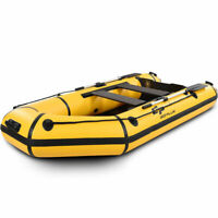 Goplus 4-Person 10FT Inflatable Dinghy Boat Fishing Tender Rafting Water Play